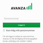 Inloggning med mobilt BankID i Androidappen