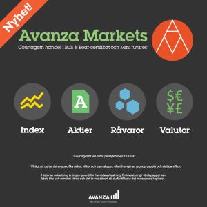 Avanza Markets - courtagefri handel i Bull & Bear-certifikat och Mini Futures