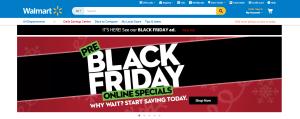 Så här såg Walmarts hemsida ut under onsdagen