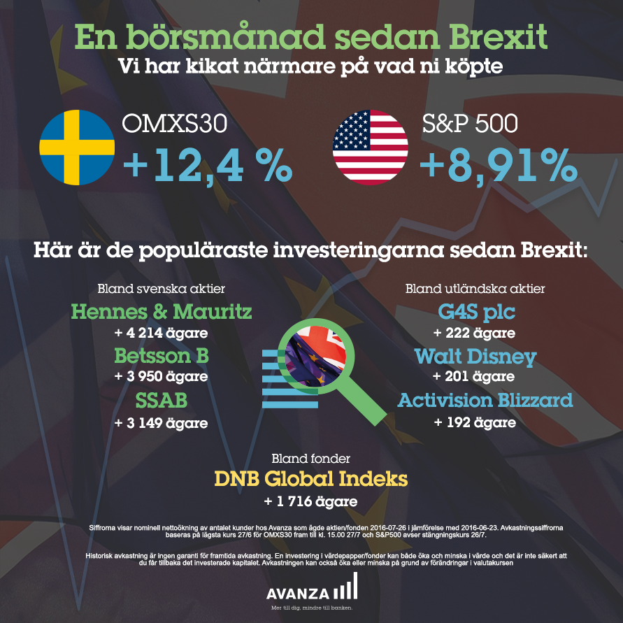 En börsmånad sedan Brexit3